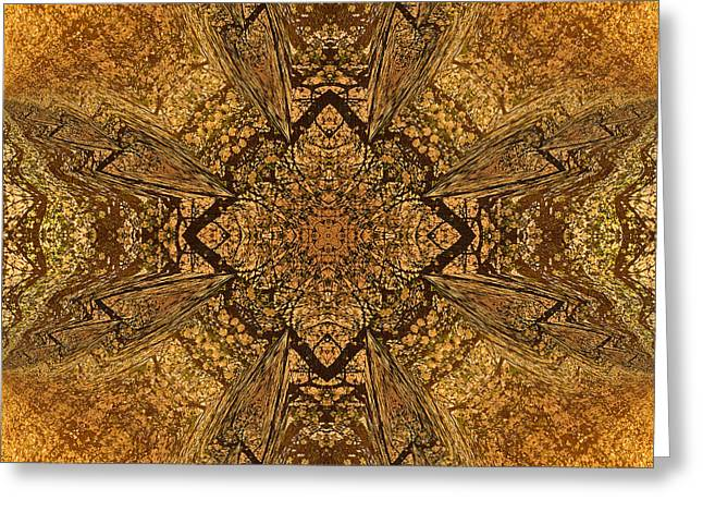 Celtic Mandala Abstract Greeting Card by Georgiana Romanovna