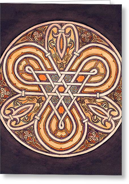 Ink Drawing Greeting Cards - Celtic Piece Greeting Card by Thacia Langham