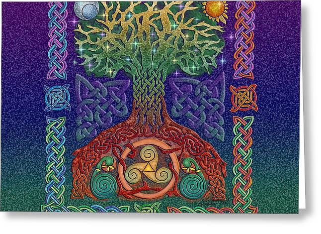 Celtic Tree of Life Greeting Card by Kristen Fox