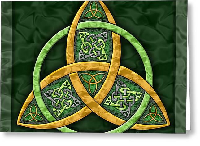Celtic Knotwork Greeting Cards - Celtic Trinity Knot Greeting Card by Kristen Fox