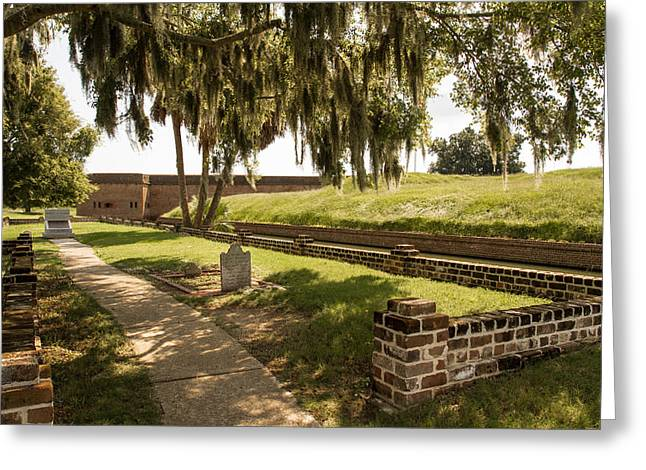 Mccoy Greeting Cards - Cemetery at Fort Pulaski Greeting Card by A Different Brian Photography