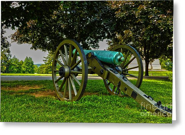 Confederate Monument Greeting Cards - Cemetery Cannon Greeting Card by Jake Donaldson