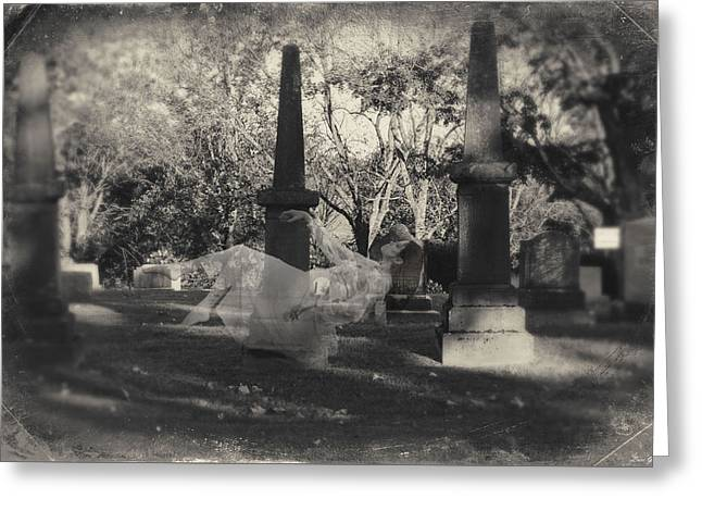 Intrigue Greeting Cards - Cemetery Levetation  Greeting Card by Lacey Grainger