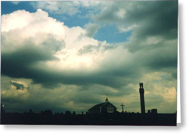 Storm Clouds Cape Cod Greeting Cards - Cemetery Greeting Card by Loren McNamara