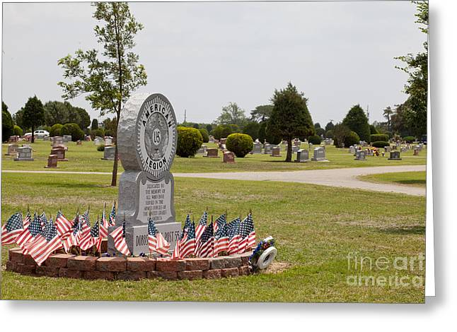 Decoration Day Greeting Cards - Cemetery of honor Greeting Card by Toni Hopper