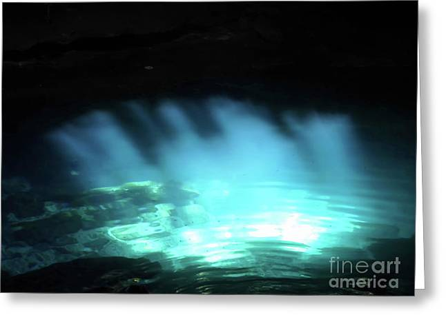 Cenote Sunbeam Reflections Greeting Card by D Hackett