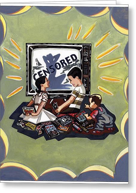 Censored Greeting Cards - Censored Greeting Card by Karl Frey