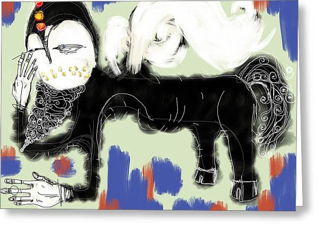 Roman Mixed Media Greeting Cards - Centaur Greeting Card by Mark M  Mellon
