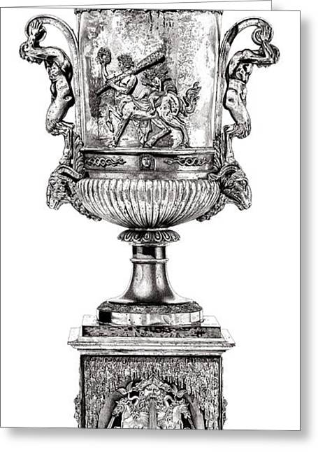 Roman Sculptures Greeting Cards - Centaur Urn _ V1 Greeting Card by Bruce Algra