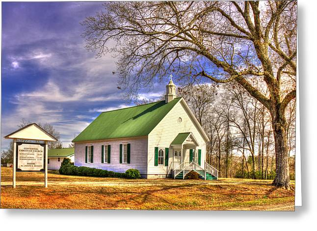 Established Greeting Cards - Centennial Christian Church 1909 Greeting Card by Reid Callaway