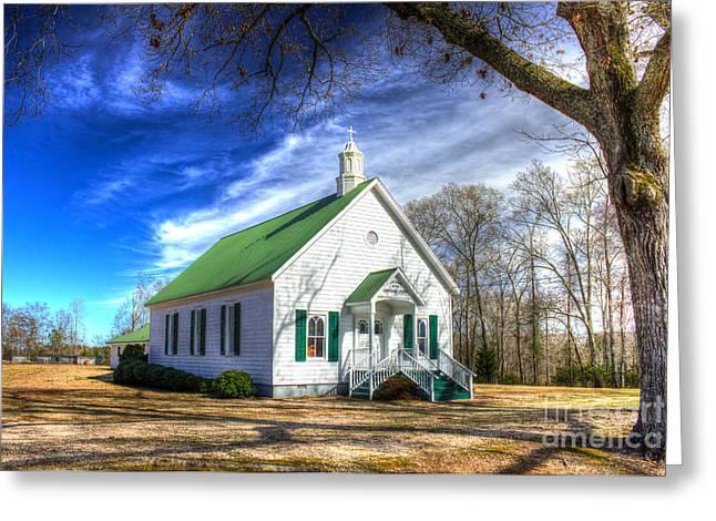 Established Greeting Cards - Centennial Christian Church Est 1909 Greeting Card by Reid Callaway