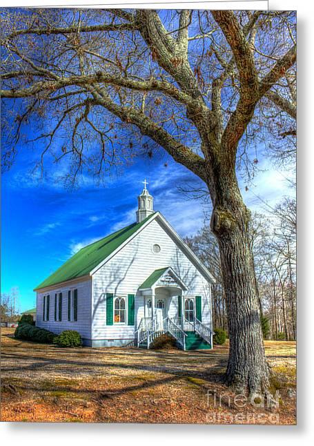 Established Greeting Cards - Centennial Christian Church Rural Greene County Georgia Greeting Card by Reid Callaway