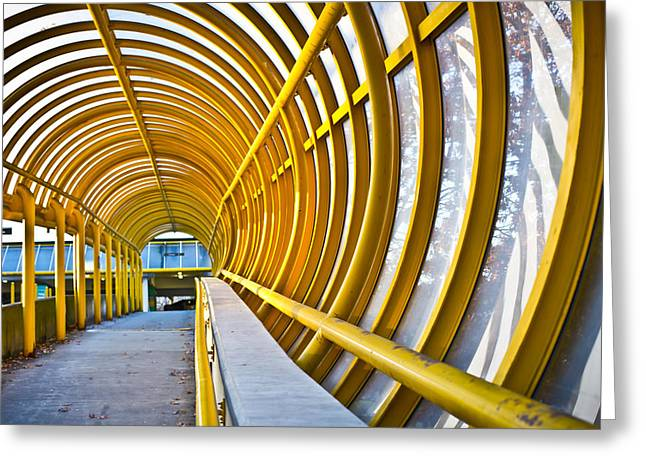 Artistic Photography Greeting Cards - Centennial Pavilion Walkway Greeting Card by Lorna Rande