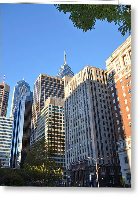 Center City Philadelphia Greeting Card by Bill Cannon