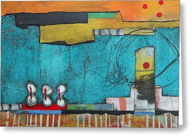 Mark Mixed Media Greeting Cards - Center Stage Greeting Card by Laura  Lein-Svencner