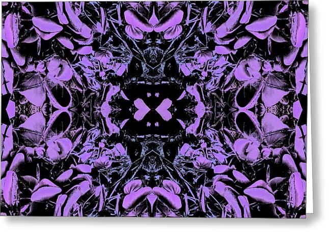 Abstract Design Tapestries - Textiles Greeting Cards - Centered in Heart Greeting Card by Suzi Freeman