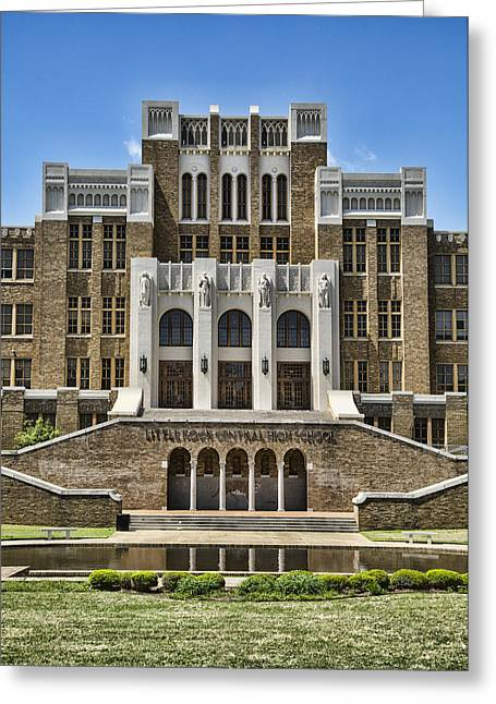 Federal Troops Greeting Cards - Central High School - Little Rock Greeting Card by Stephen Stookey