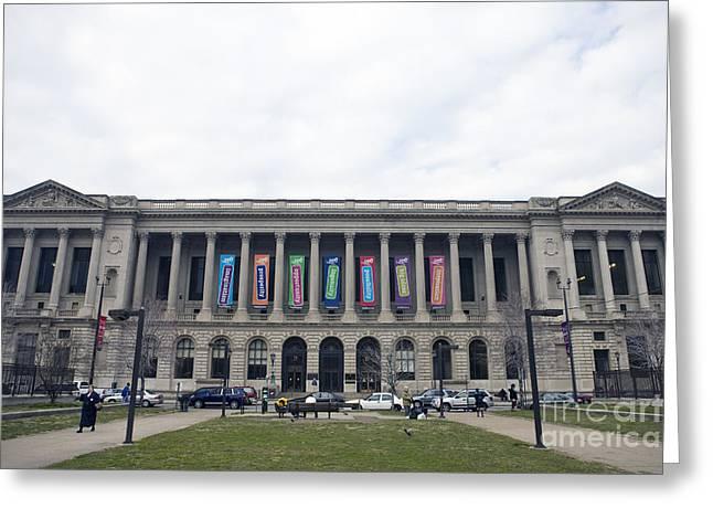 Central Library Philadelphia Greeting Card by Jason O Watson
