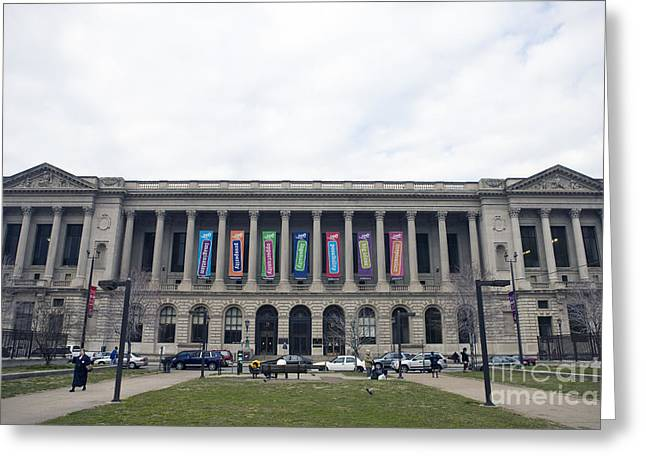 Philadelphia Tourist Site Greeting Cards - Central Library Philadelphia Greeting Card by Jason O Watson