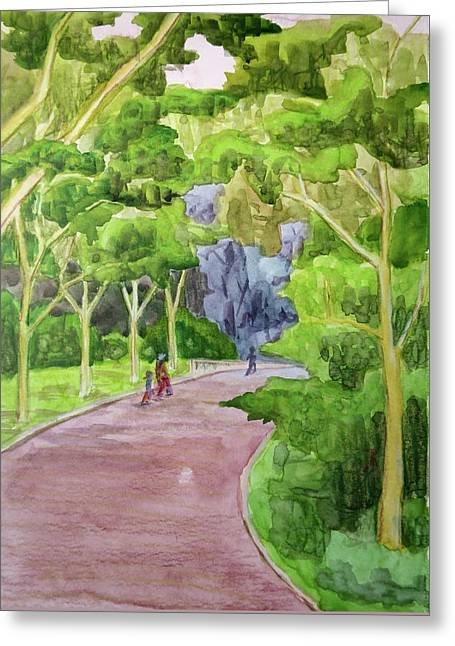 Central Park Greeting Card by Bethany Lee