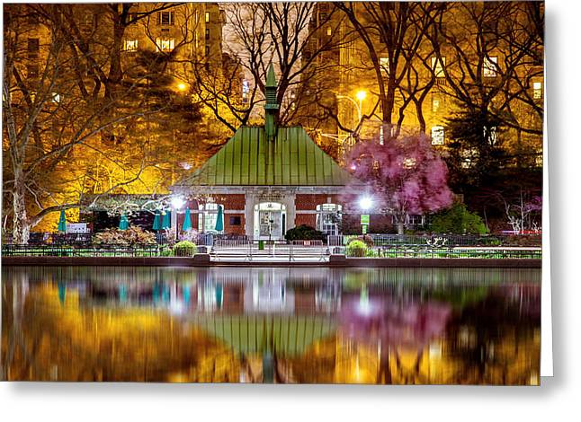 Boat Shed Greeting Cards - Central Park Memorial Greeting Card by Az Jackson