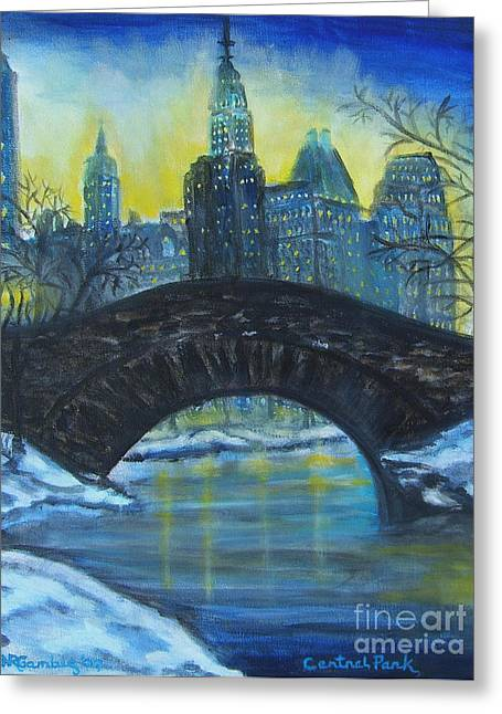 Nancy Rucker Greeting Cards - Central Park Greeting Card by Nancy Rucker