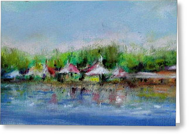 Park Scene Pastels Greeting Cards - Central Park NY Greeting Card by Joyce A Guariglia