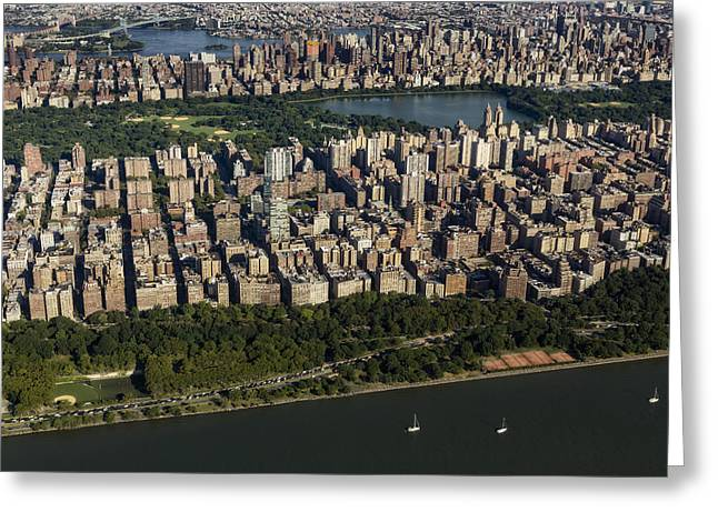 Jacqueline Greeting Cards - Central Park NYC Aerial View Greeting Card by Susan Candelario