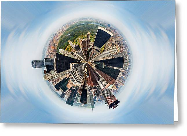 Famous Greeting Cards - Eye Of New York Greeting Card by Az Jackson