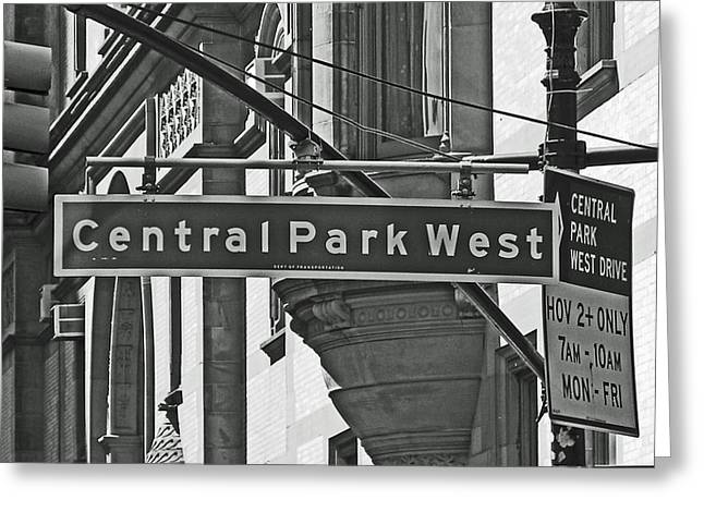 Central Park West Greeting Cards - Central Park West Greeting Card by Sharla Gentile