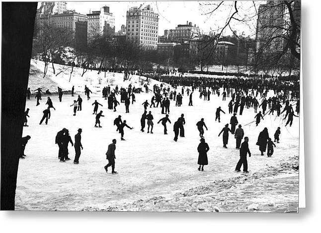 Central Park Winter Carnival Greeting Card by Underwood & Underwood