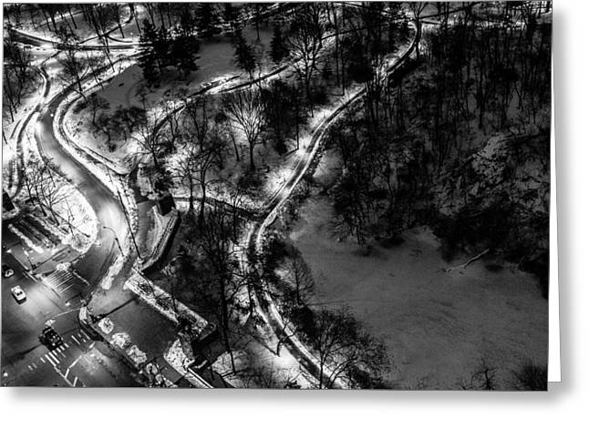 Greeting Card featuring the photograph Central Park Trails by M G Whittingham