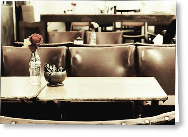 Cafe Greeting Cards - Central Reservation Greeting Card by Andrew Paranavitana