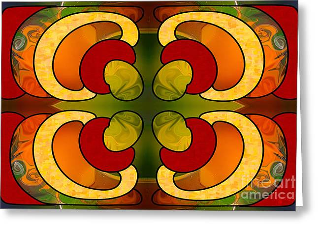 Centrally Located Abstract Art By Omashte Greeting Card by Omaste Witkowski