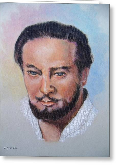 Character Portraits Pastels Greeting Cards - Cephas Greeting Card by Charles Yates