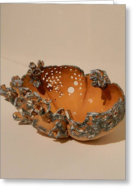 Roses Ceramics Greeting Cards - ceramic bowl -Castle Rose Greeting Card by Keramik Sonnenscheindesign