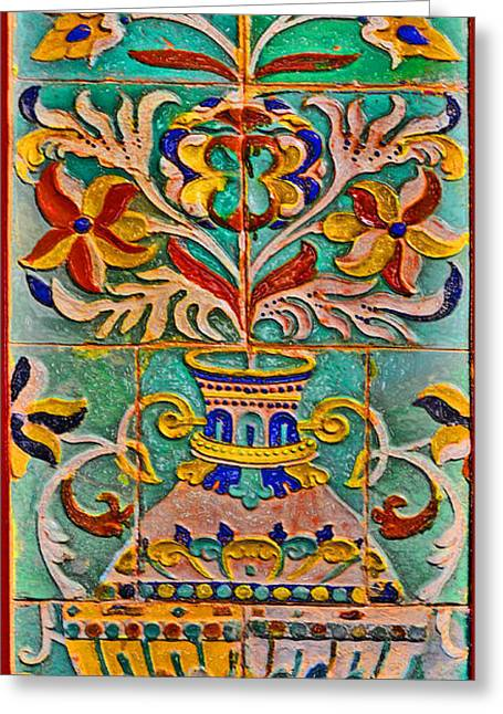 Coloured Greeting Cards - Ceramic panel. Greeting Card by Andy Za