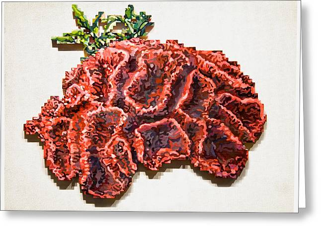 Lego Mixed Media Greeting Cards - Cerebellum Greeting Card by Karl Frey