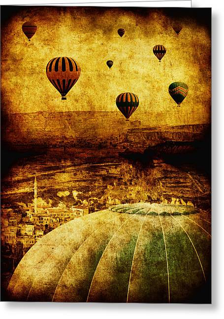 Hot Air Greeting Cards - Cerebral Hemisphere Greeting Card by Andrew Paranavitana