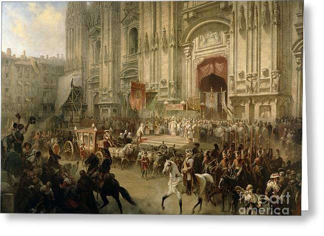 Ceremonial Reception Greeting Card by Adolf Jossifowitsch Charlemagne