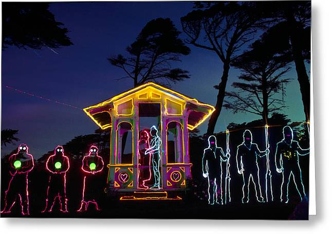Ceremony At Sutro Heights Greeting Card by Garry Gay