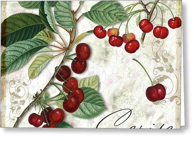 Food Art Paintings Greeting Cards - Cerise Greeting Card by Mindy Sommers