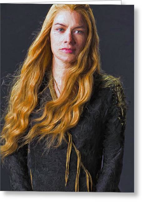 Creative People Greeting Cards - Cersei Lannister III - Game Of Thrones Greeting Card by Nikola Durdevic