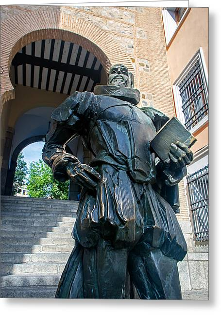 Bronce Greeting Cards - Cervantes Greeting Card by Jose Flores