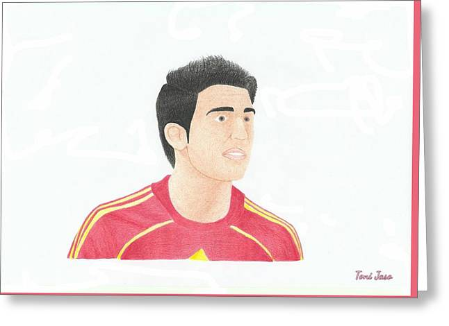 Player Drawings Greeting Cards - Cesc Fabregas Greeting Card by Toni Jaso