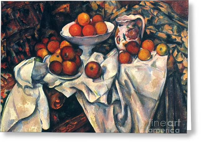 1890s Greeting Cards - CEZANNE: STILL LIFE, c1899 Greeting Card by Granger