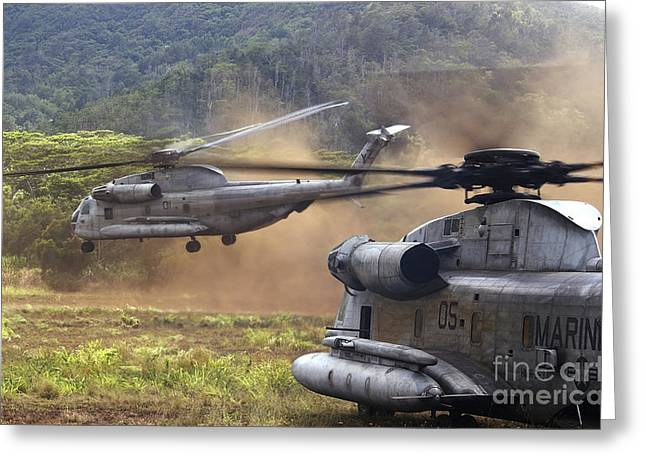 Ch-53d Sea Stallion Helicopters Lift Greeting Card by Stocktrek Images