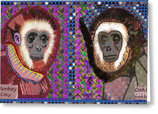 Raining Greeting Cards - CHA CHA and BA BA Monkey from the City by NavinJoshi at FineArtAmerica  Greeting Card by Navin Joshi