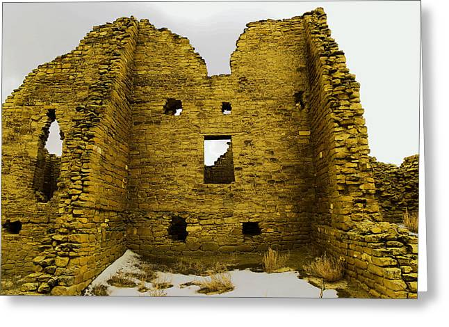 Chaco Canyon Ruins Greeting Card by Jeff Swan