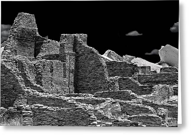 Chaco Canyon Greeting Cards - Chaco Eight Greeting Card by Paul Basile